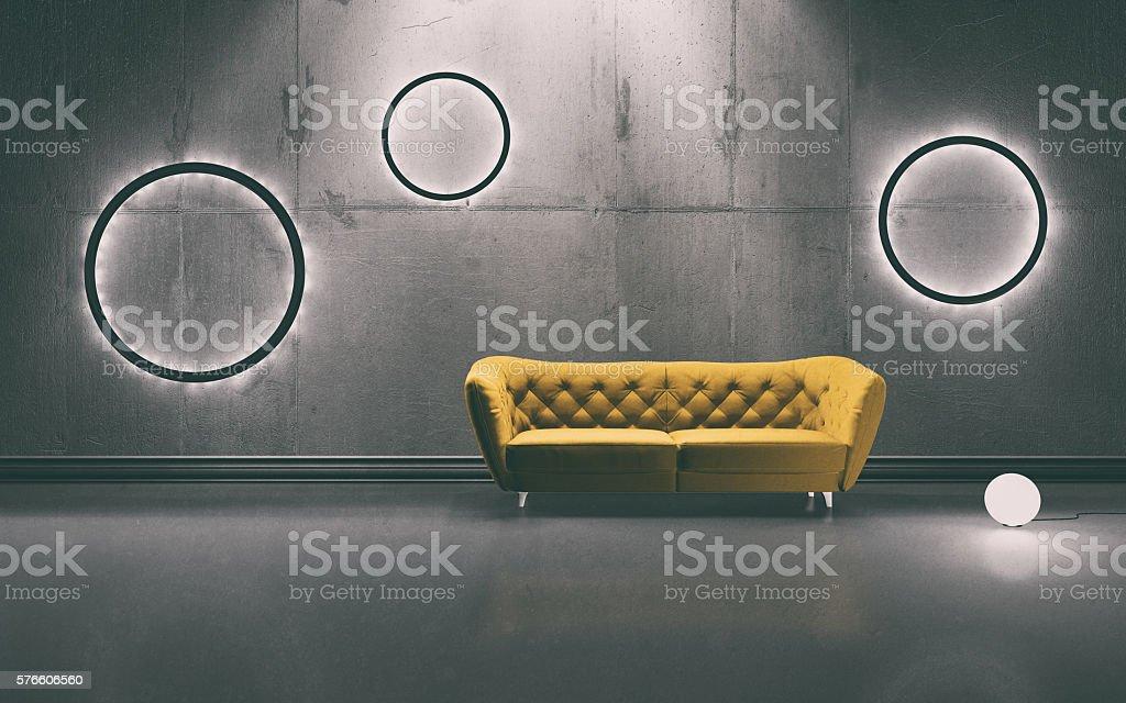 Moderne Innenansicht  - Lizenzfrei Beleuchtet Stock-Foto