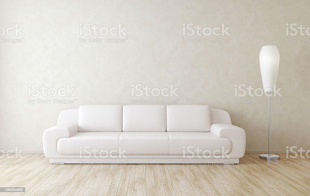 Modern Room Interior Wall royalty-free stock photo