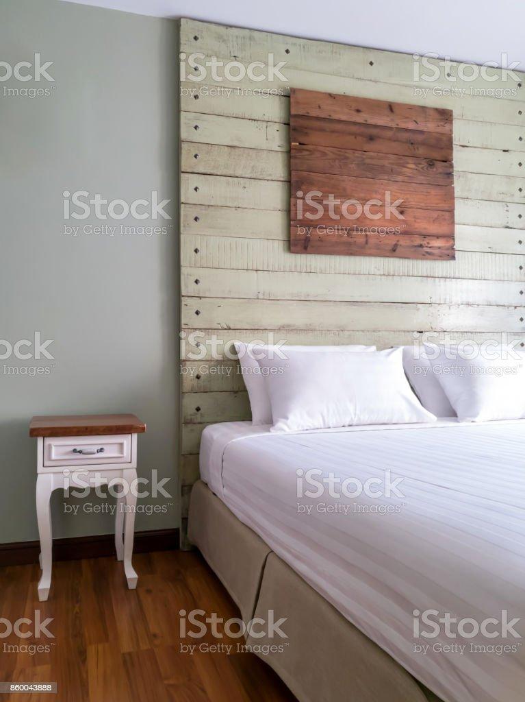Moderne Rustikale Schlafzimmer Innenarchitektur Dekokonzept Stock ...