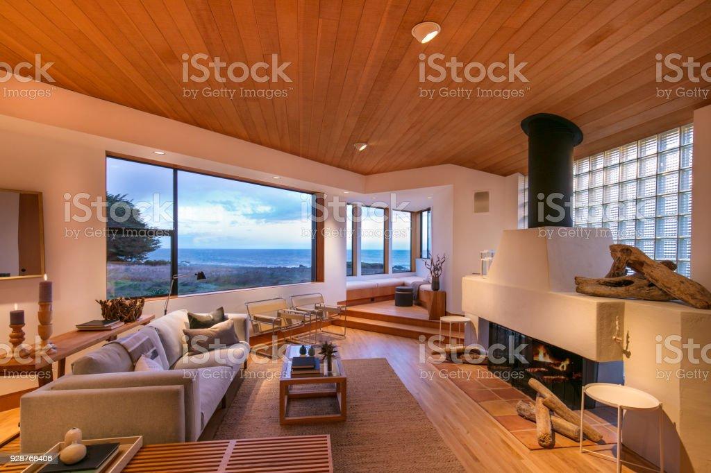 Moderne rustikale Küsten-Home – Foto