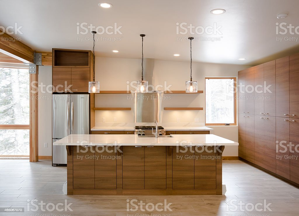 Modern Rustic Ktichen stock photo