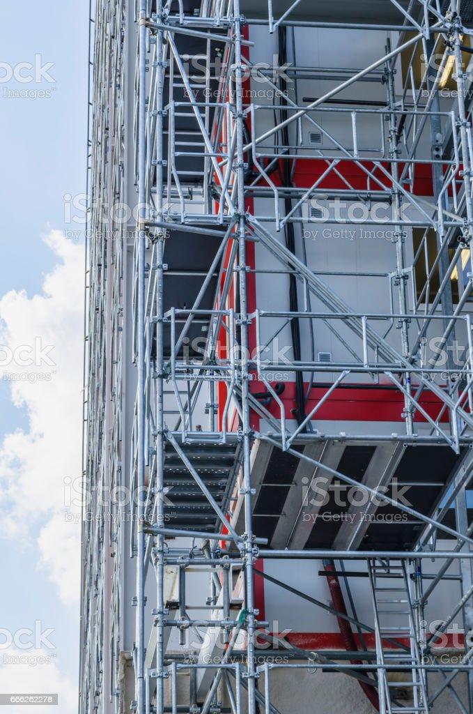Modern scaffold stock photo