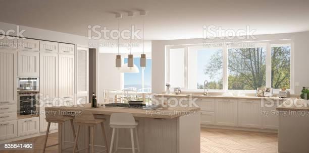 Modern scandinavia kitchen with big windows panorama classic white picture id835841460?b=1&k=6&m=835841460&s=612x612&h=mz6hpptydffeflbav2c 1iizmhvgx9lat7ixh2zzq5w=