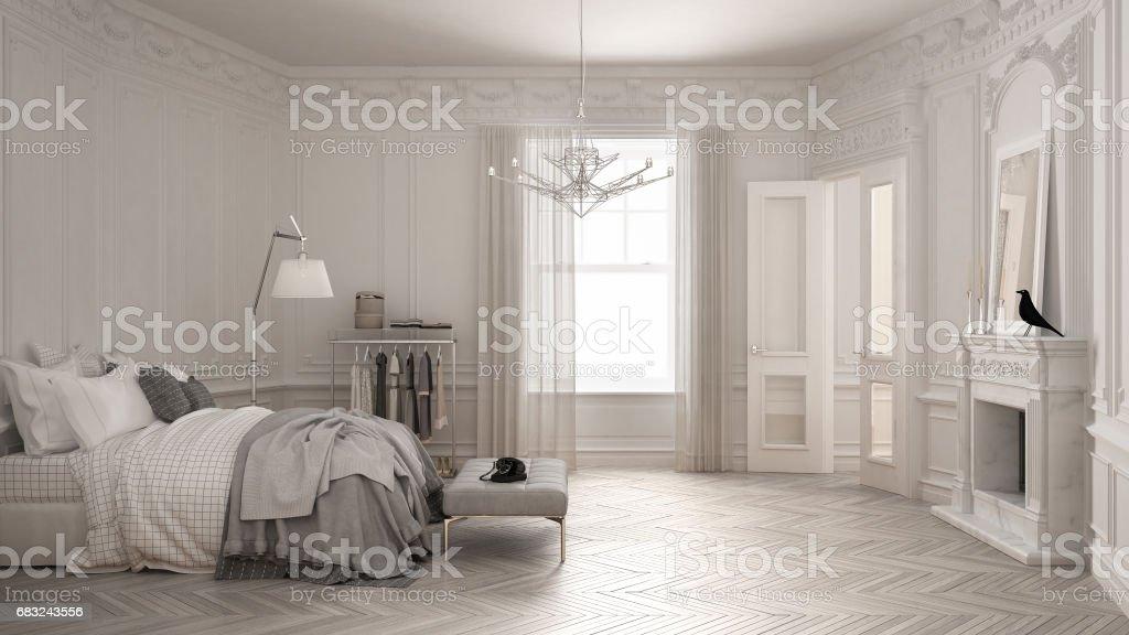 Dormitorio Moderno Escandinavo En Clásico Vintage Living ...