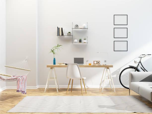 Moderne skandinavische Interior Design Home office – Foto