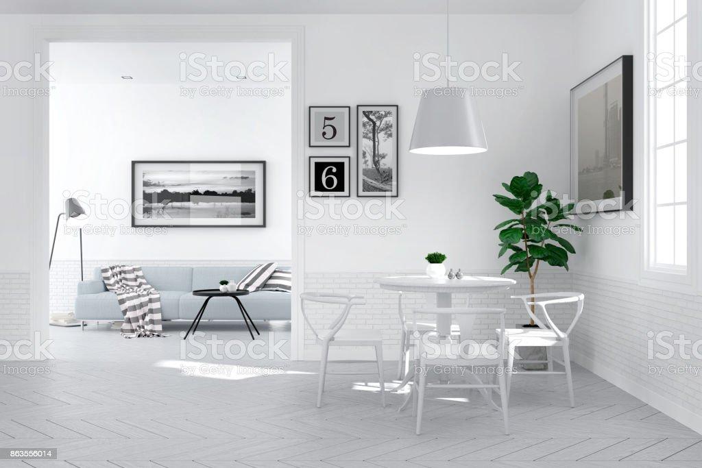 Modern Scandinavian Interior Style Dining Room Decorating Design ...