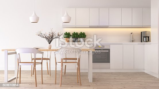 istock Modern scandinavian kitchen 503610854