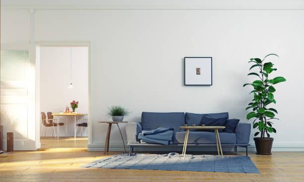 Salón escandinavo moderno diseño. - foto de stock