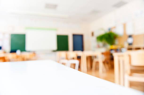 moderne school-klassenzimmer - tageslichtbeamer stock-fotos und bilder