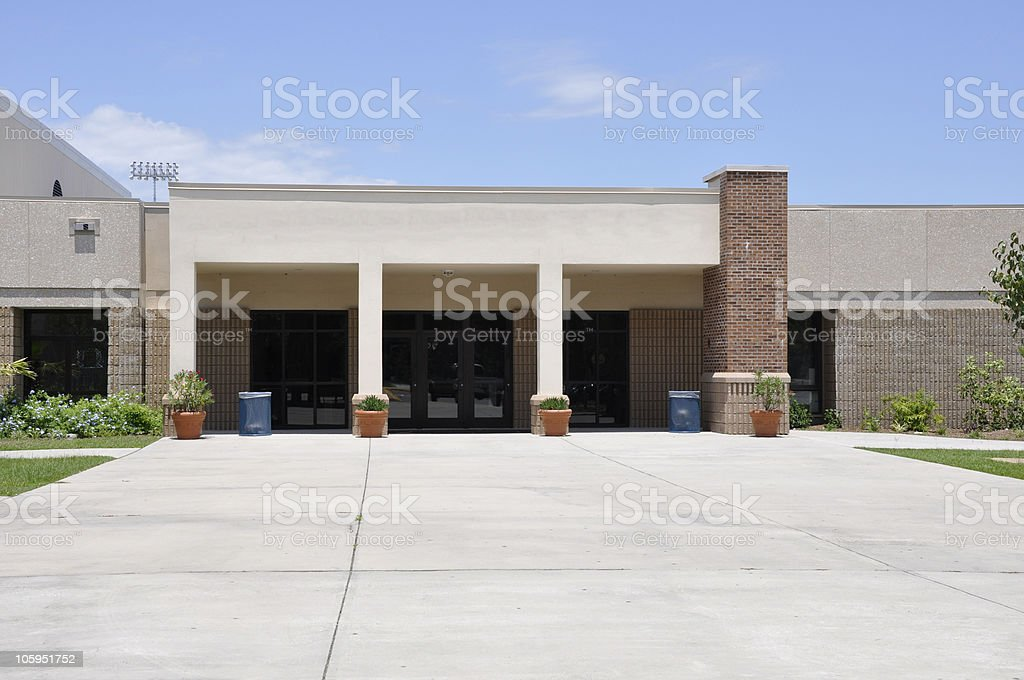 modern school exterior royalty-free stock photo