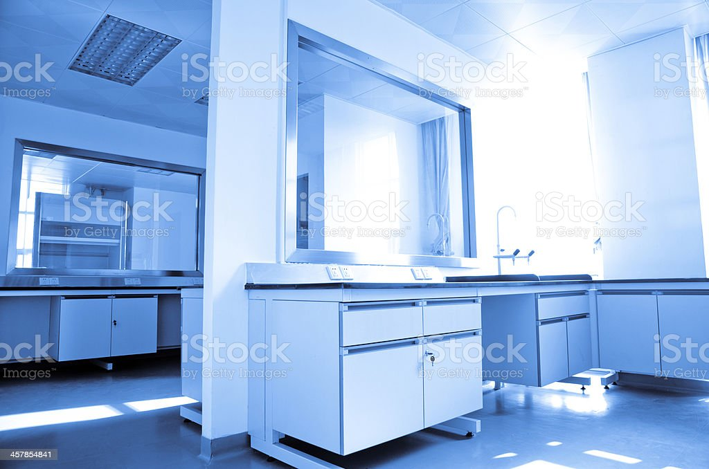 modern science laboratory stock photo
