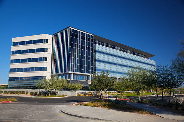 modern scottsdale arizona building for medical business - hospital building stock photos and pictures