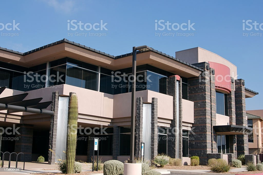 Modern Scottsdale Style Building  royalty-free stock photo