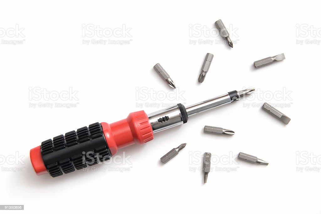 Modern screwdriver royalty-free stock photo