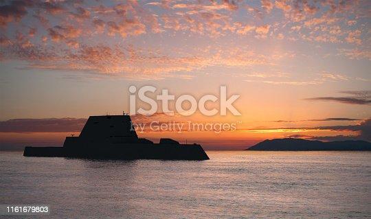 istock Modern Sea Destroyer 1161679803