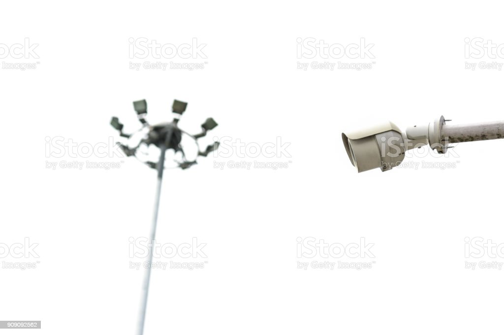 Modern security on white background stock photo