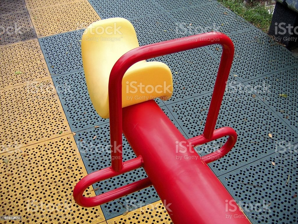 Modern Seesaw at a Playground royalty-free stock photo