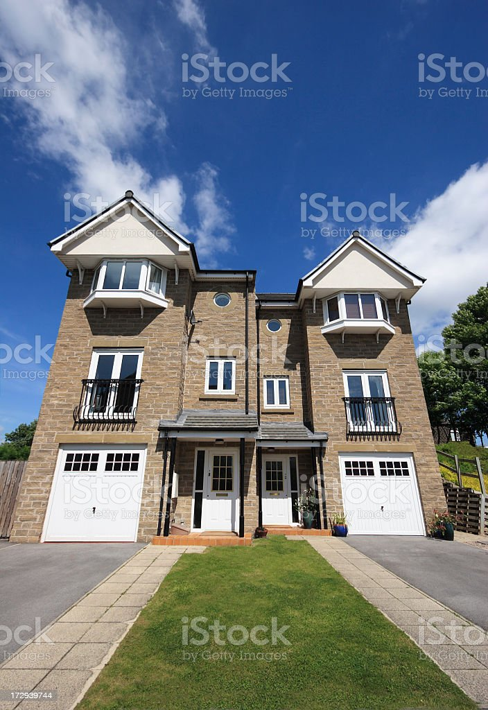 Modern Semi Detached Houses royalty-free stock photo
