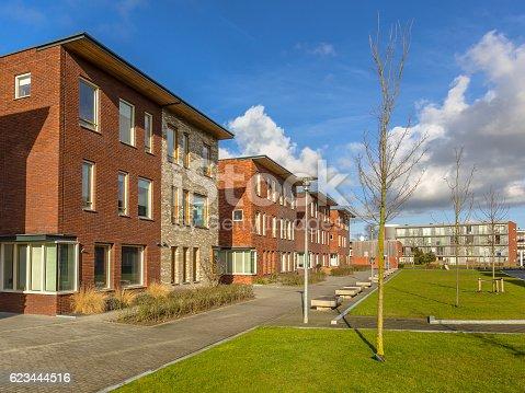 istock Modern Semidetached family houses 623444516