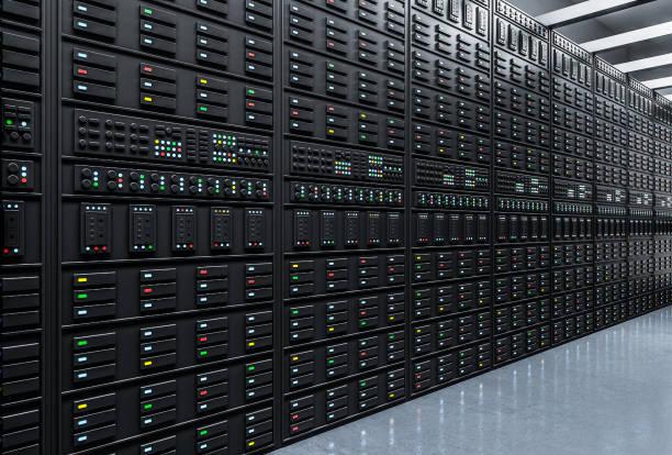 Moderner Serverraum. – Foto