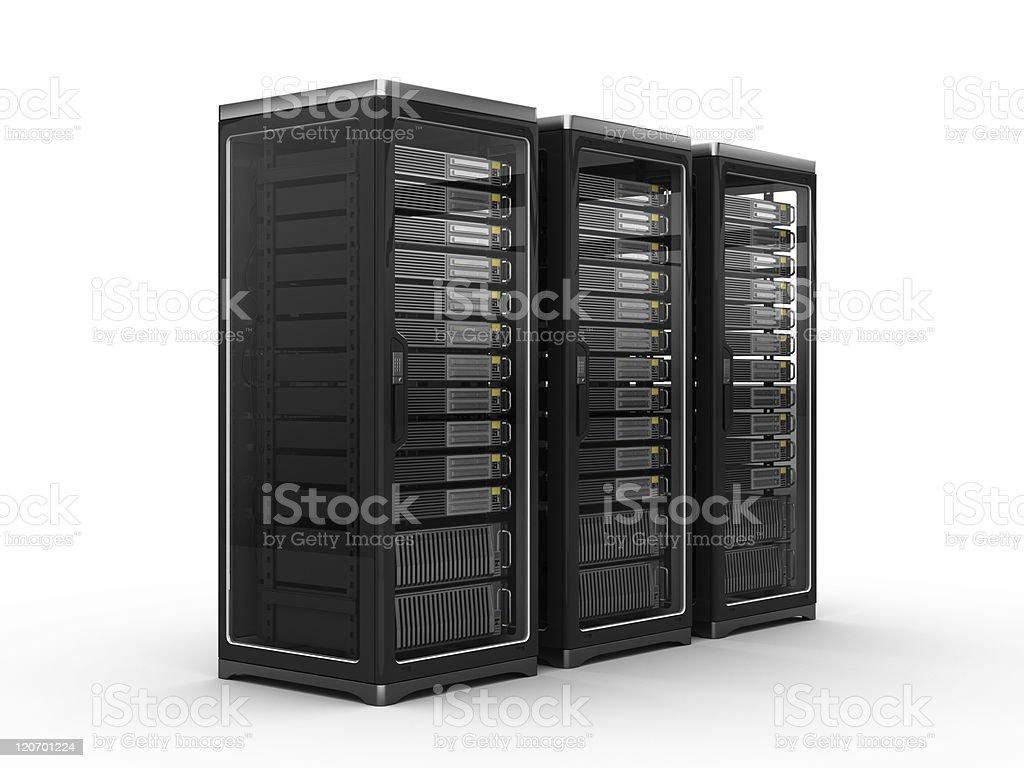 Modern Servers racks royalty-free stock photo