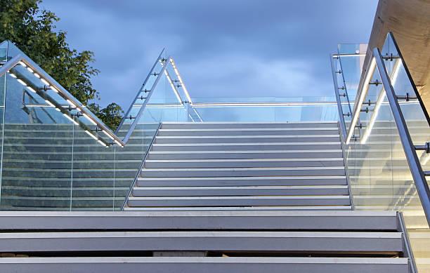 modern set of concrete steps stock photo