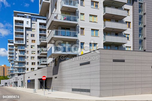 889473004 istock photo Modern shape of new apartment buildings 940885674
