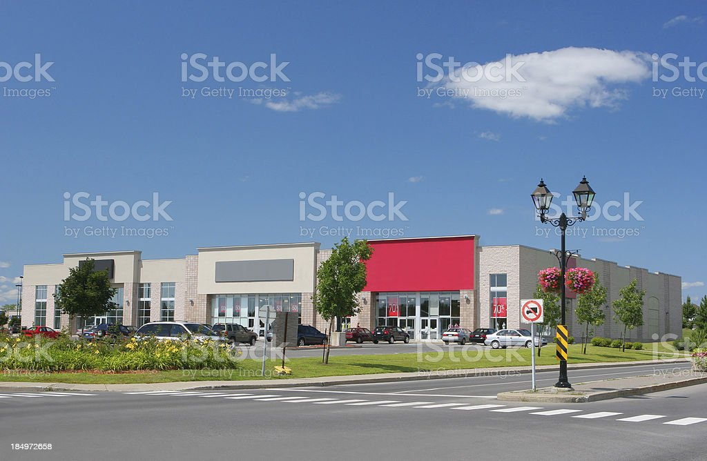Modern Shopping Area stock photo