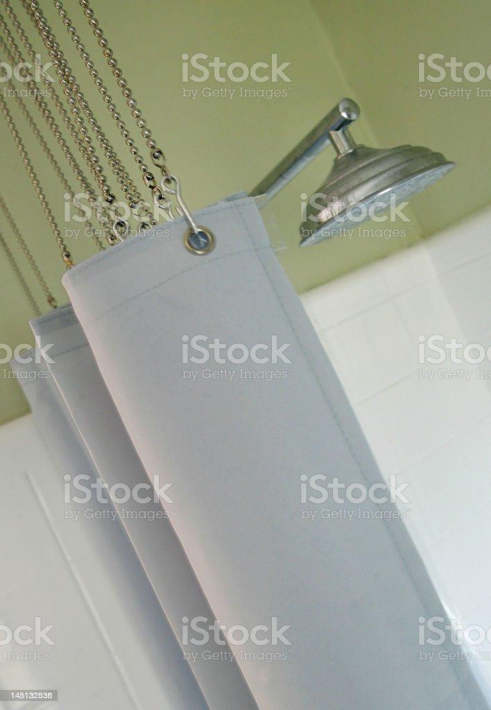 Modern Shower with rain head stock photo