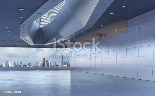 Modern showroom background stage