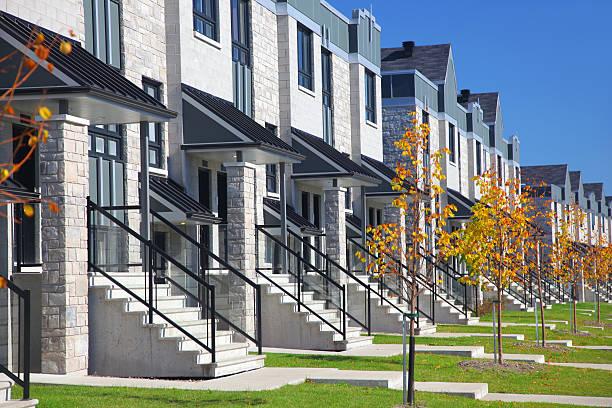 Modern Similar Urban Neighborhood  housing development stock pictures, royalty-free photos & images