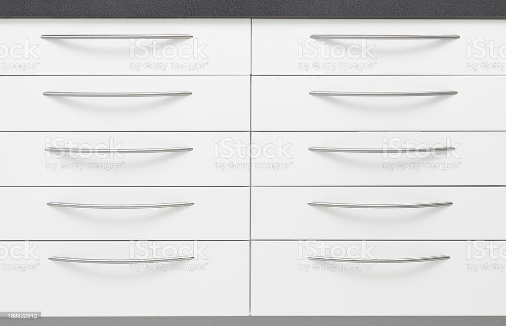 Modern, simple, clean chest of drawers. royalty-free stock photo