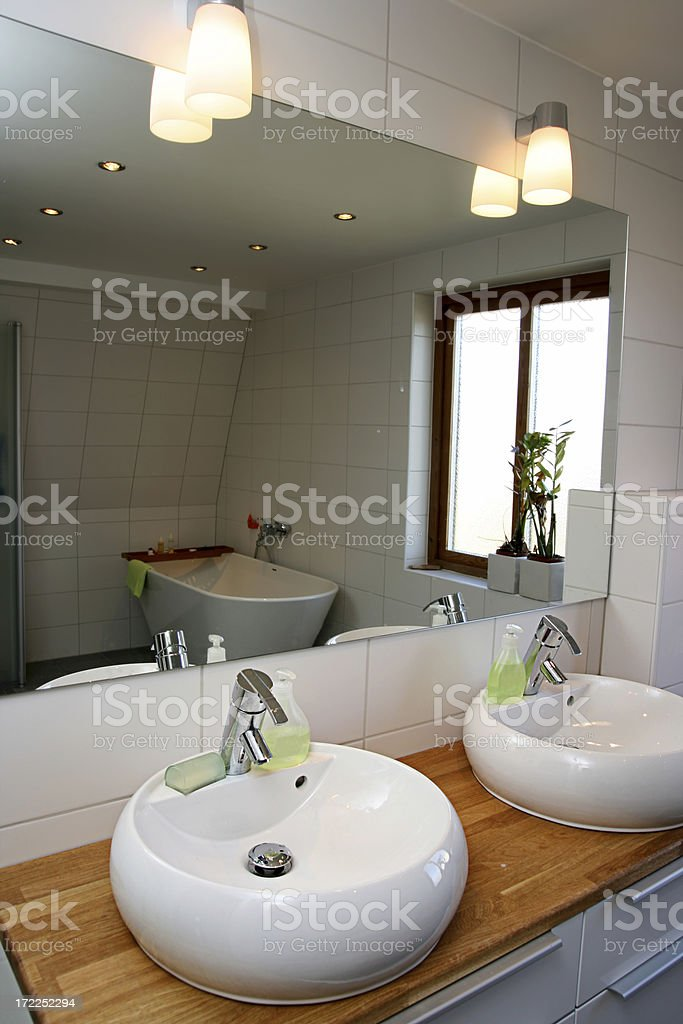 Modern sink royalty-free stock photo