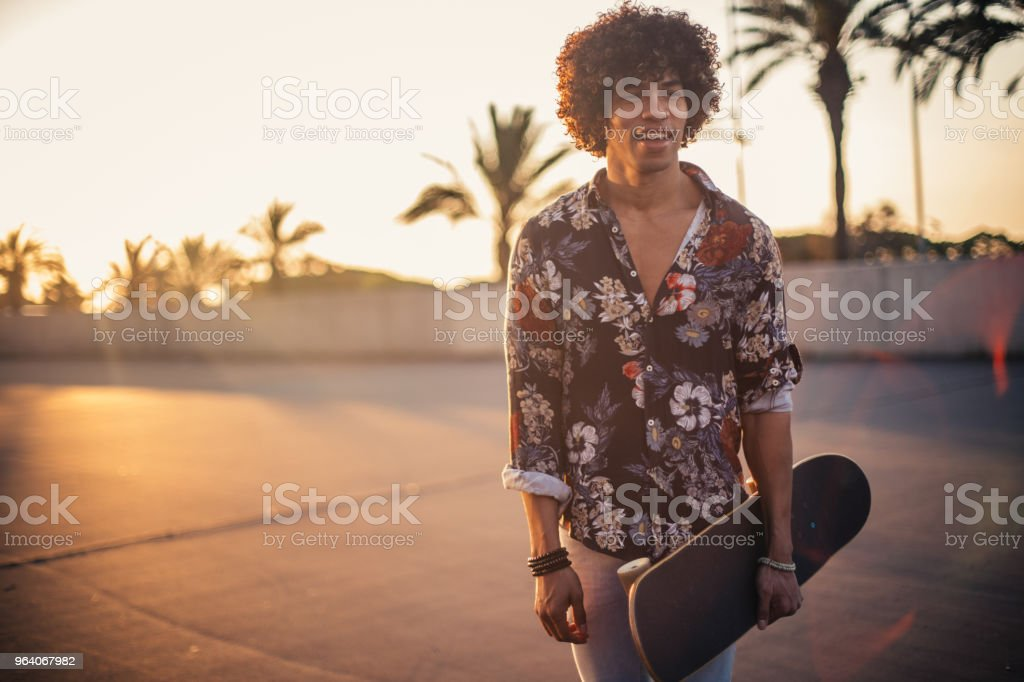 Modern skater on the street - Royalty-free Adult Stock Photo