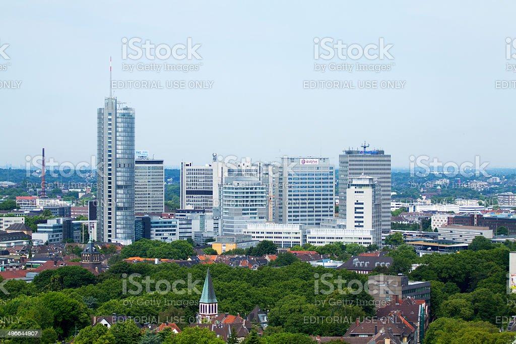 Modern skyline of Essen stock photo