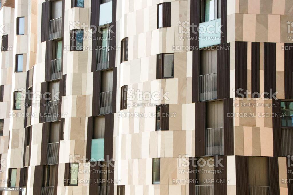 modern skyscraper in Porto Nuovo business district in Italy. Milan Porta Garibaldi district. stock photo