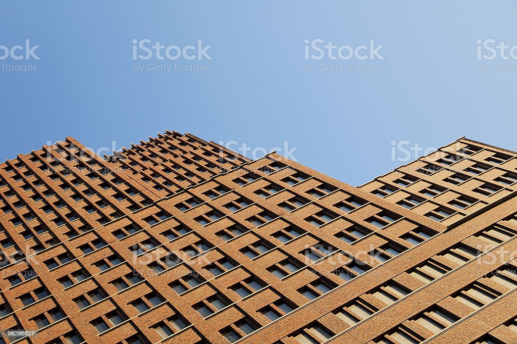 Modern skyscraper soars into the sky royalty-free stock photo