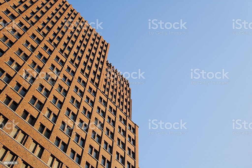 Modern skyscraper soars into the sky royalty-free stock photo