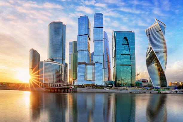 Modernes Hochhaus Business Center Moskau-Stadt in Russland – Foto