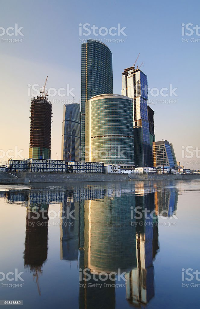 Modern skyscrapers business centre in Moscow, Russia royalty-free stock photo