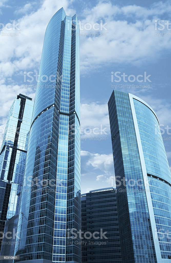 Modern skyscrapers business centre in Moscow, Russia stock photo
