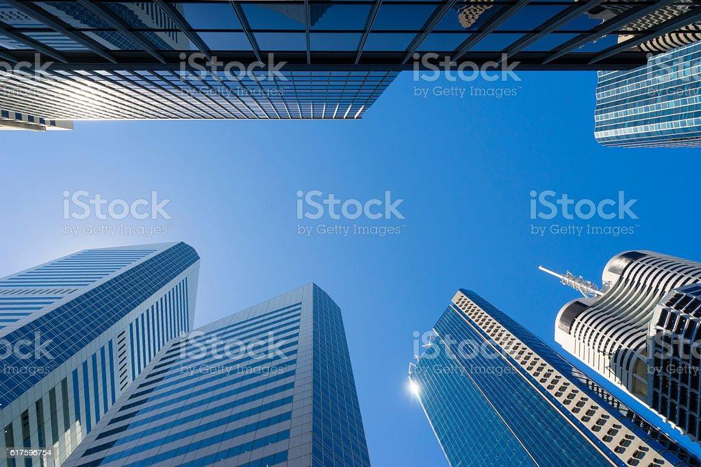 Modern skyscrapers concept stock photo