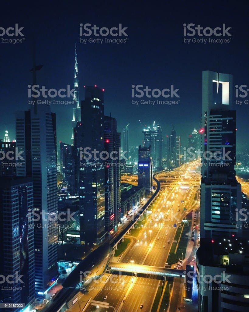 Moderne Wolkenkratzer, Dubai, Vereinigte Arabische Emirate – Foto