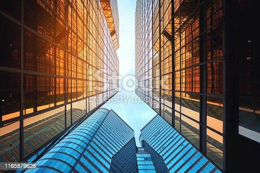 Architecture details Modern Building Glass facade Exterior