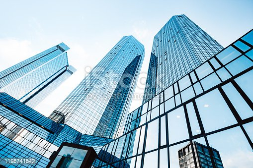 istock Modern skyscrapers in business district 1198741542