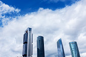 Modern skyscrapers in Castellana in Madrid