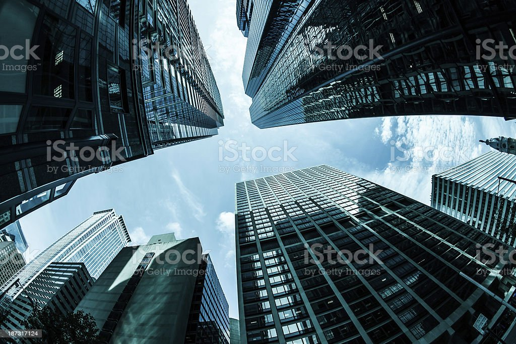 Modern Skyscrapers in Downtown Philadephia, USA royalty-free stock photo