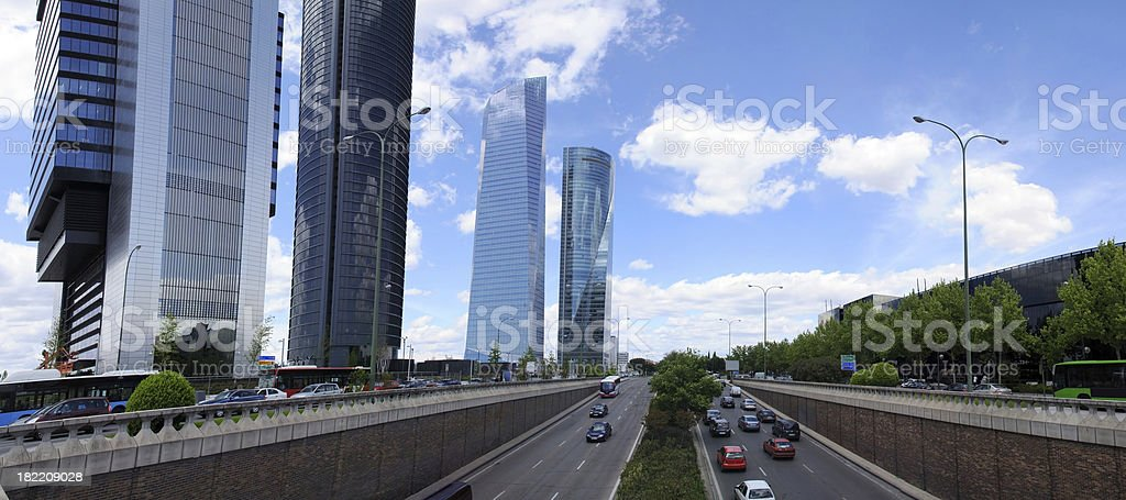 Modern Skyscrapers In Madrid royalty-free stock photo