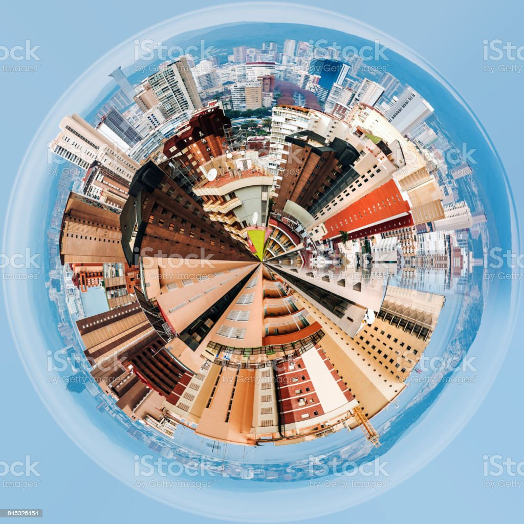 Modern skyscrapers of Benidorm stock photo