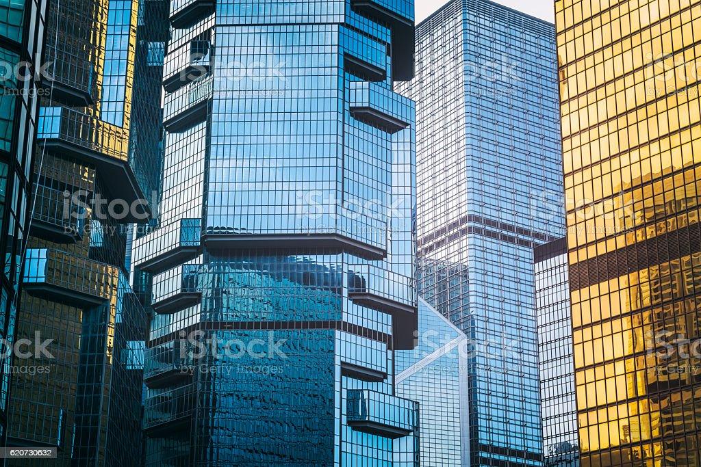modern skyscrapers of Hong Kong stock photo